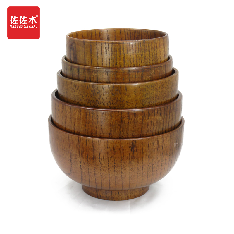 Direct sale of factories chinese/asian  style whole wood Handmade bo  Rice/Noodles/Sushi/Food/Sugar/Soup wood bowl 10-24cm