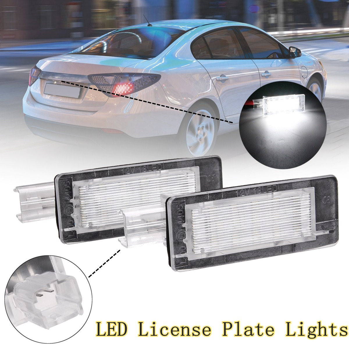 #8200013577 Car <font><b>Led</b></font> license plate Light For <font><b>Renault</b></font> Espace IV Scenic II III Laguna II Fluence Captur <font><b>Modus</b></font> For Dacia Lodgy Logan image