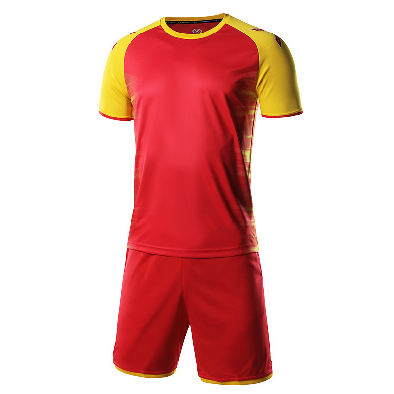 cd7680e5bac Professional Custom Printing Men Soccer Jerseys Set Uniforms Football  Shirts Shorts Tracksuit Clothes Sport Kit Cheap Breathable-in Soccer Sets  from Sports ...