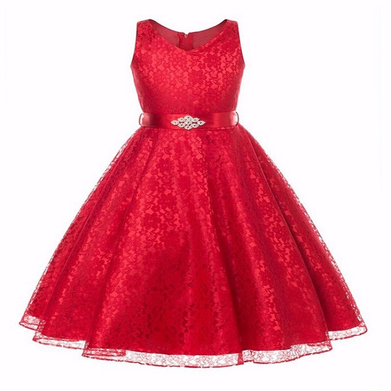 Christmas Girl Dress for Party Summer Princess Wedding Dress Birthday New Year dress for girl Belt 3-12yrs Baby Girls Clothes