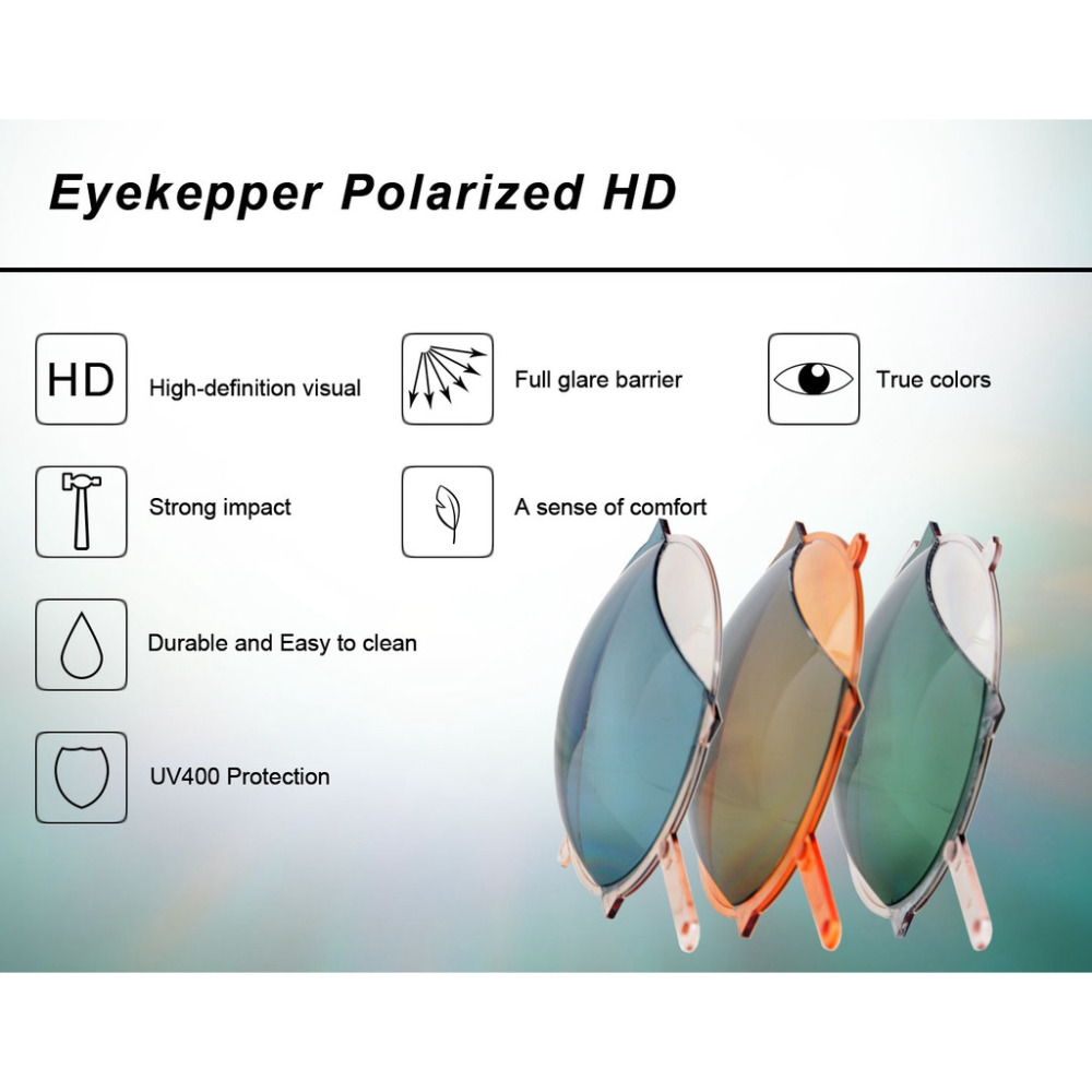 S032PGSG Eyekepper 180 Degree Spring Hinges Polycarbonate Polarized - Accesorios para la ropa - foto 6