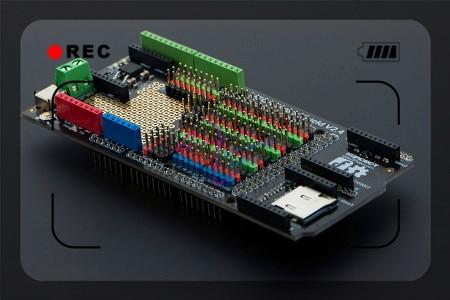 DFRobot Mega Sensor Shield / IO Expansion board V2.4 For Arduino Mega prototype shield v3 expansion board w miniature breadboard for arduino mega