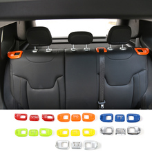 3pcs ABS Car interior trim cover for rear seat belt decoration Fit For Jeep Renegade 2015 2016 Car-Styling
