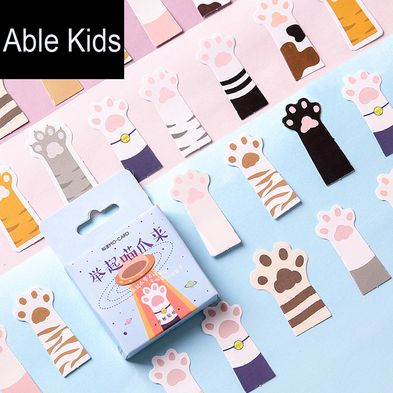 45pcs /Pack Cute Cats Paw Adhesive DIY Sticker Stick Label Notebook Album Diary Computer Decoration