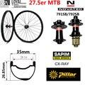 27 5 er MTB углеродное колесо 35*26 85 мм бескамерный обод для XC/AM горный велосипед комплект колес Novatec D791SB D792SB 6-болт QR или Boost