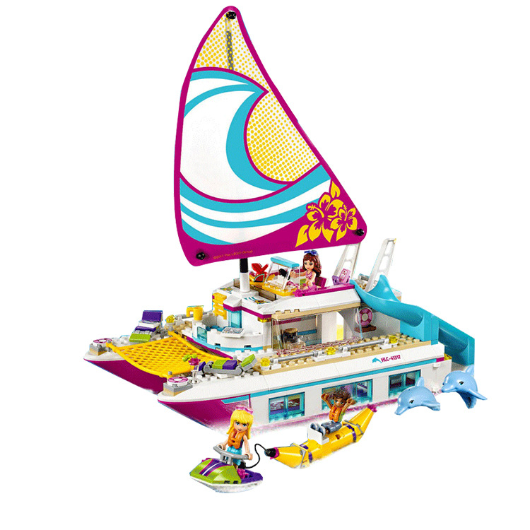 651pcs Friends Girls Series Building Blocks toys Sunshine legoings figs Catamaran kids Bricks girl gifts Heartlake city 37037 651pcs diy friends girl series building blocks sunshine catamaran kids bricks toys for children gifts compatible with legoingly