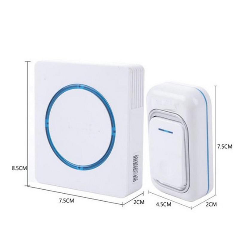 Waterproof 260M Long-range Wireless Doorbell,wireless Door Chime,wireless Bell,door Bell,48 Melodies & 16 Chord Door Ring