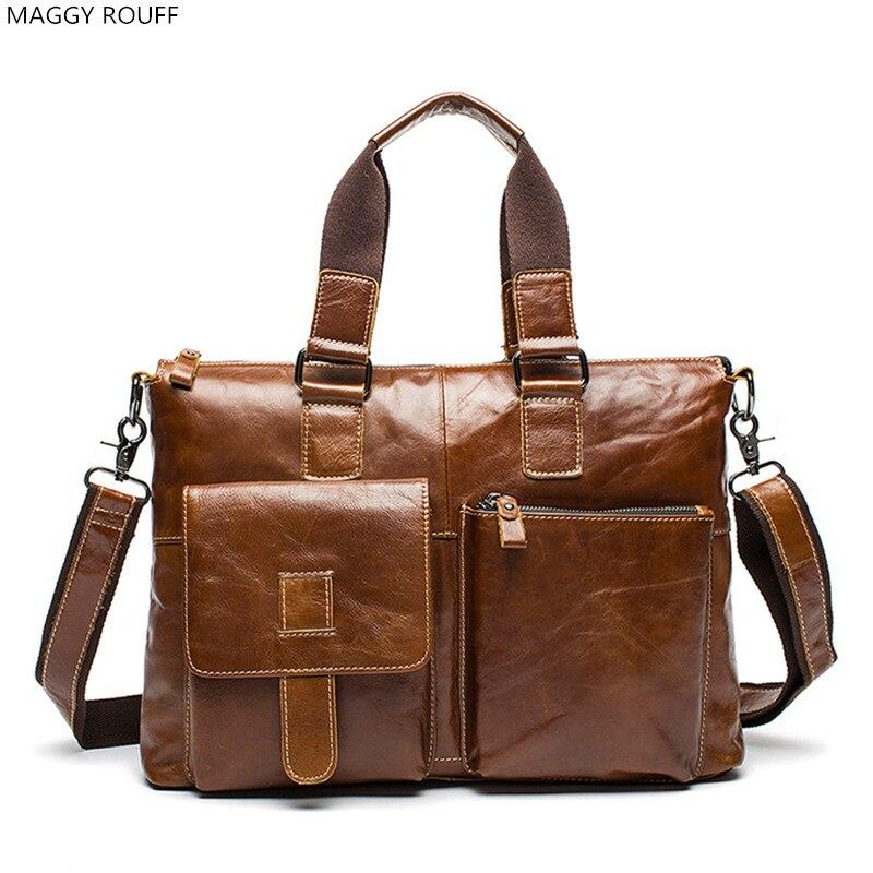 Genuine Leather Men Briefcase High Quality Men's Business Handbags Leather Men Bag Men Messenger Shoulder Bags