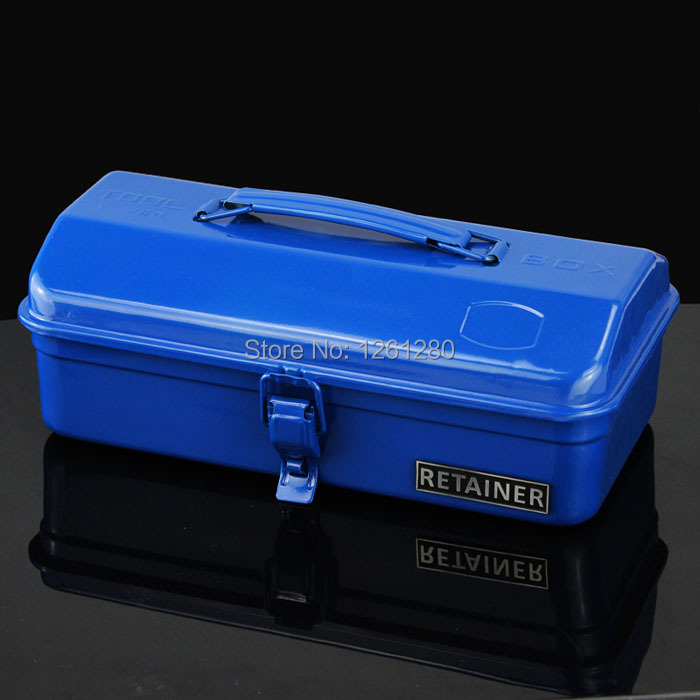 ФОТО free shipping toolcase storage box home hardware car tool box metal trunk hand toolbag tool packaging suitcase