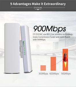Image 1 - Pont AP sans fil, 2 pièces, 900 mb/s, 5.8Ghz, extérieur, 5KM WIFI CPE Point daccès 12dBi, antenne WI FI, Nanostation CPE COMFAST CF E313AC