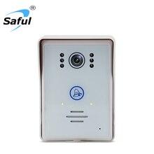 Saful беспроводной телефон видео домофон Ночное видение сенсорная кнопка Водонепроницаемый дверной звонок с 1 крытый звонок приемник для дома