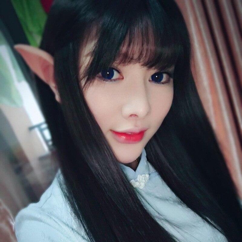 Pair Elf Ears Latex Soft Prosthetic False Ear Fairy Cosplay Accessories RAE