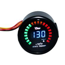 Универсальный 12 В 2 дюйма 52 мм Цифровой СВЕТОДИОДНЫЙ Прибор для авто EGT датчик температуры выхлопных газов 0-1300 Предупреждение ющий светильник