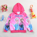 Cartoon Elsa Fever Jacket Costume girls Snow Queen Coat kids Long Sleeves Cardigan Hoodies vetement fille For 5 6 8 10 12 Years