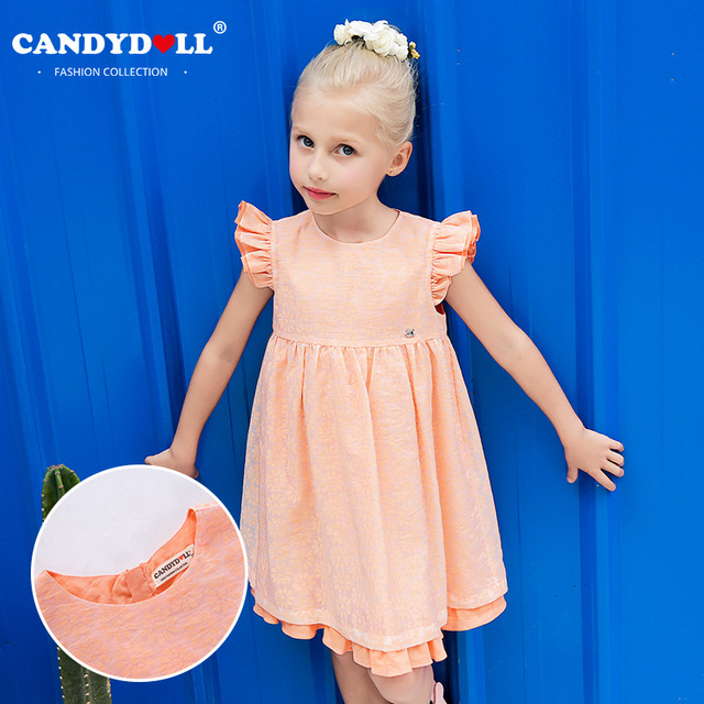 469d3f90f4f Candydoll 2017 Children Girls Dresses Europen American Style Summer Girls  Lace Embroidered Fabric Princess Dresses 3-10Y SAJ3171