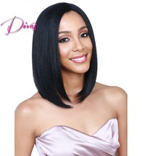 Unprocessed Brazilian Virgin Hair Bob Style Full Lace Wig & Lace Front Wig Natural Color Silk Straight Human Hair Wigs