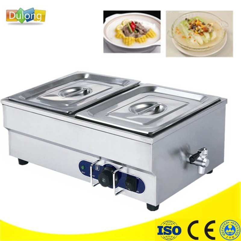 Kitchen Appliance 220V Electric Stainless Steel Bain Marie With 2 Pots For Commercial Food Warmer Pool