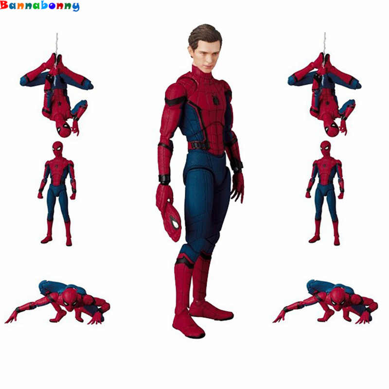 Hot 15 CENTÍMETROS MAF047 Spider-Man do Regresso A Casa Do Tom Holland Spiderman PVC Action Figure Coleção Toy com caixa