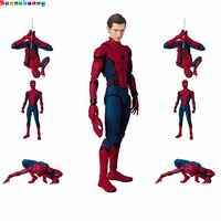 Hot 15 CM MAF047 Spider Man Homecoming The Spiderman Tom Holland PVC Action Figure Collection Toy with box