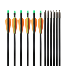 12pcs Newest 33inches Archery Fiberglass Arrows for Bow Huntng