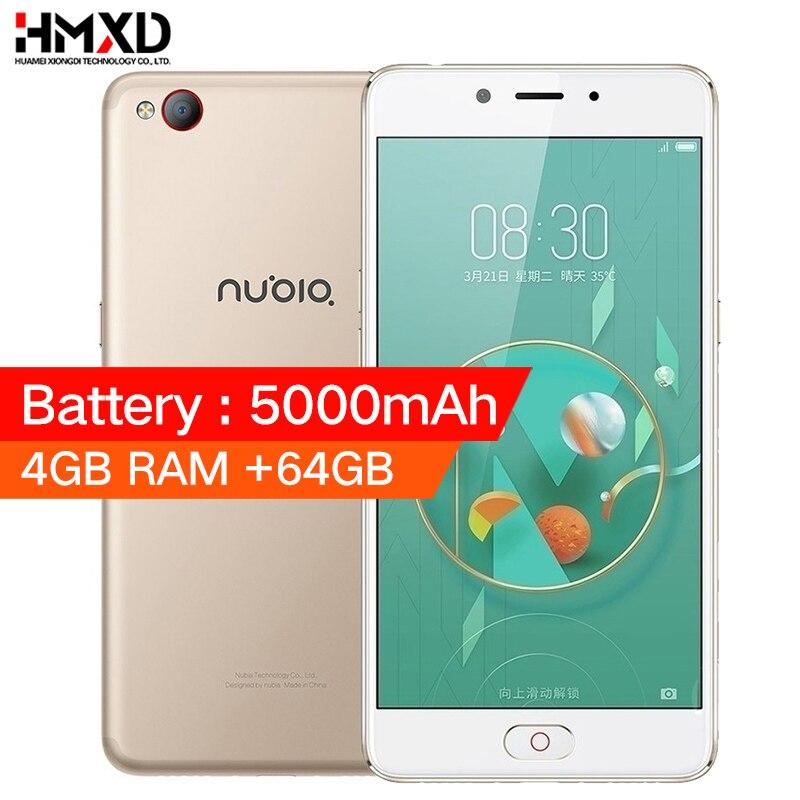 Original ZTE Nubia N2 4GB RAM 64GB ROM 5000mAh Smartphone 4G LTE 5.5 inch MTK Octa Core 16.0 MP Fingerprint ID Smartphone