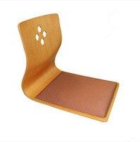 (4 adet/grup) Yüksek Kaliteli Japon Tatami Bacaksız Sandalye Kül Ahşap Mobilya Asya Oturma Odası Zemin Oturma Zaisu Sandalye toptan