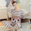 Moms maternity clothes maternity nightgown breastfeeding pregnancy sleepwear for pregnant women nursing pajamas set bear