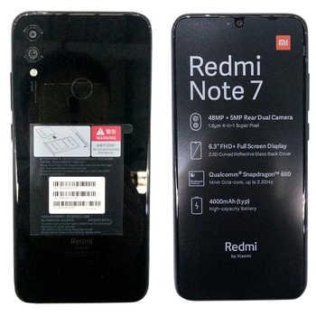 "Global Version Xiaomi Redmi Note 7 4GB 128GB Mobile Phone Snapdragon 660 Octa Core 4000mAh 6.3\"" 2340*1080 48MP+5MP Mobile Phone"