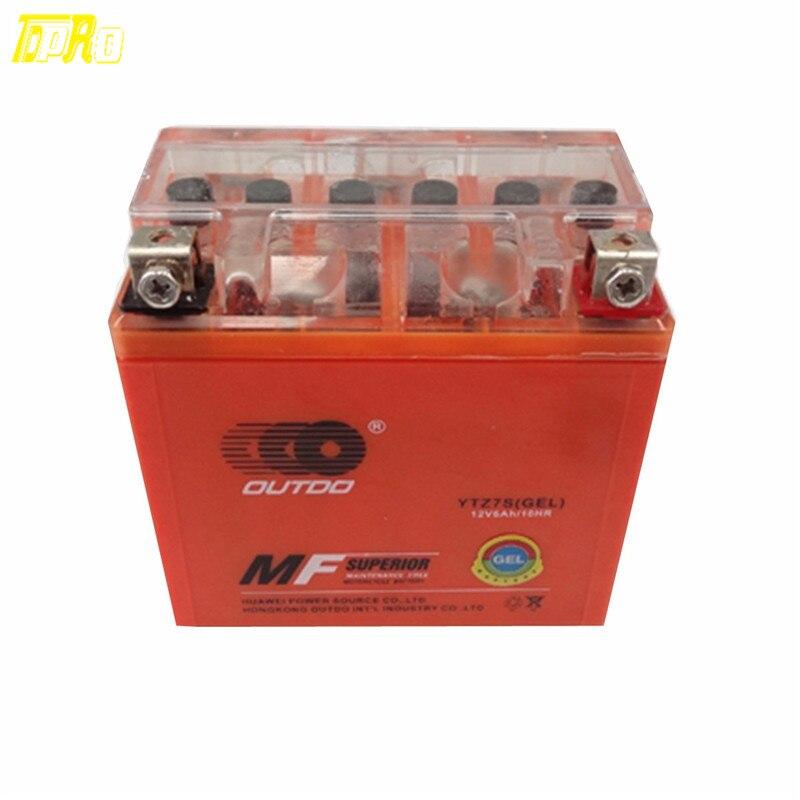 Véritable batterie TDPRO GEL YTZ7S pour arctique Cat DVX90 e-ton Viper 70 Honda CRF CBR1000RR KLX450R ZX10R DRZ250, TRX450ER ATV