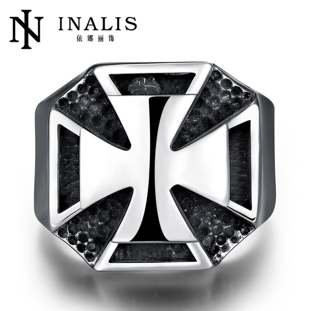 Top Quality Titanium Steel Rings Finger Punk Style 316L Stainless Steel For Men Ring Party Birthday Jewelry R219