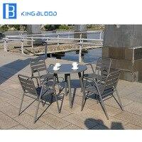 Сад ротанга патио мебель, стол и стулья столовые наборы