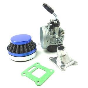 Image 2 - Lochoshi corrida carburador conjunto do filtro de ar tubo de admissão para 49cc 50cc 60cc 66cc 80cc 2 tempos mini bolso bicicleta atv