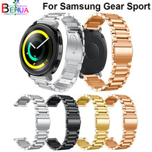 20mm For Samsung Gear Sport watch strap Replacement luxury Stainless Steel Watch Band For Samsung Gear Sport S2 Wrist bracelet samsung gear s2 sport silver