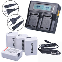 4Pcs NP FW50 FW50 NPFW50 Camera Battery LCD Ultra Fast 3X Faster Dual Charger For Sony