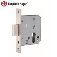 Fechamento do Punho de porta Lockcase Lock Core Passagem 55mm Lockbody Hardware Fechadura Da Porta Interior Da Porta Invisível Tubagens Interiores