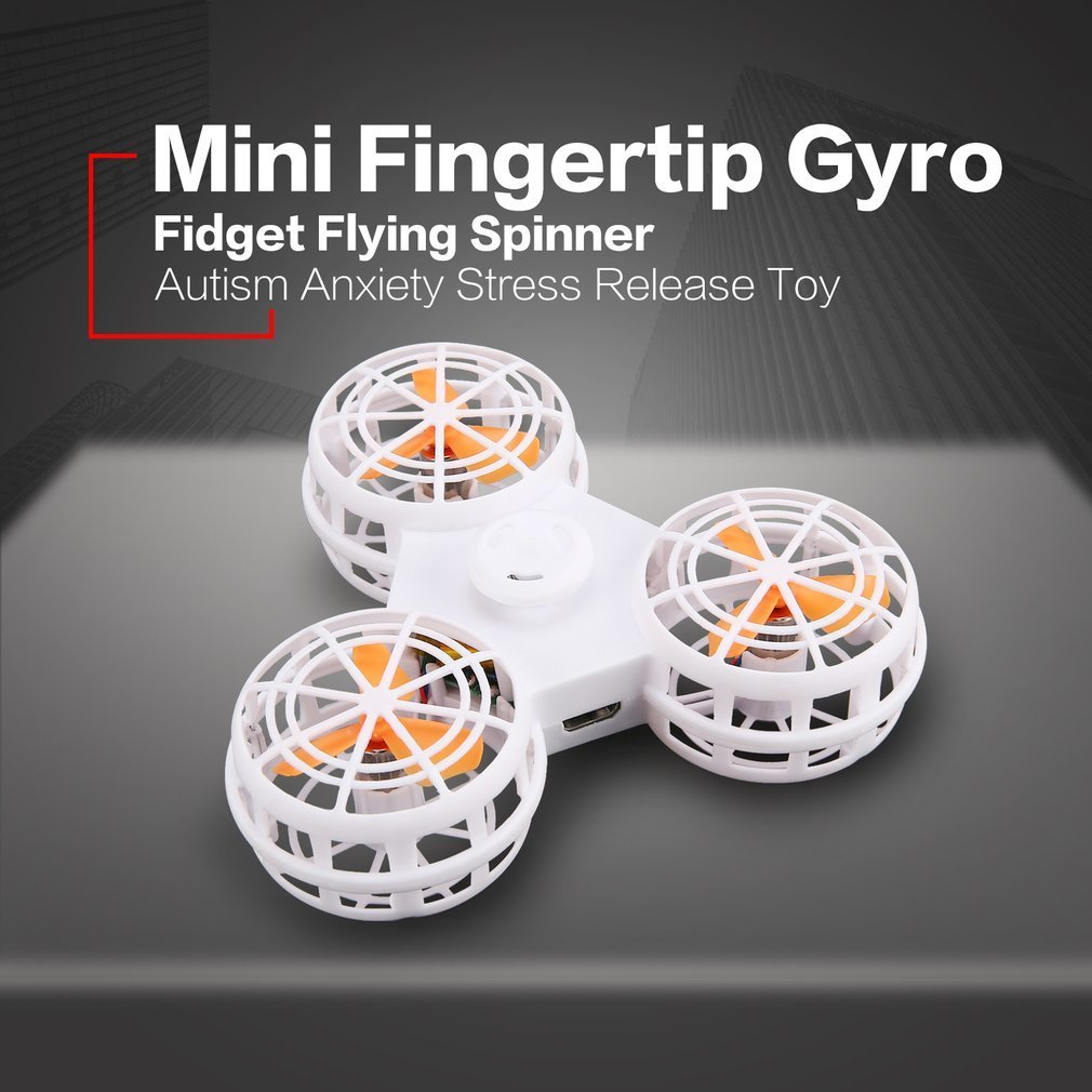 Mini Fingertip Gyro Hand Flying Spin Fidget Spinner Autism Anxiety Stress Release Toy Drone Great Funny Gift for Kid