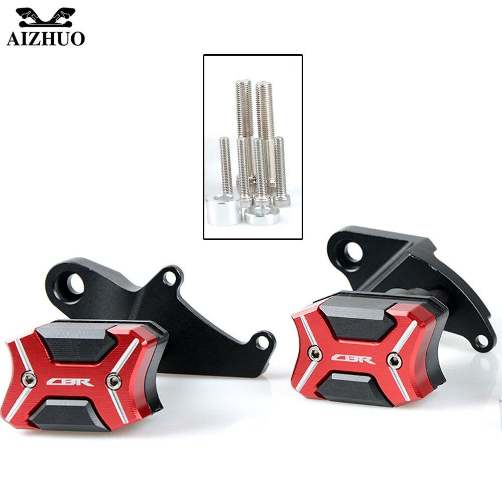 CNC Motorcycle Frame Crash Pads Engine Case Sliders Protector Body Engine Guard For Honda CBR500R 2013 2014 2015 2016