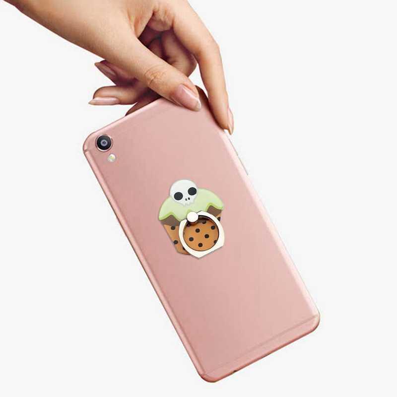 ユニバーサルアクリル指リング電話ホルダースタンドハロウィンシリーズかわいい漫画フクロウカボチャ携帯電話スタンド