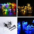 Solar Powered 30 LED Morning Glory String Light Christmas Festival Outdoor Indoor Garden Yard Deco Lamp Lighting Home Patio Lawn