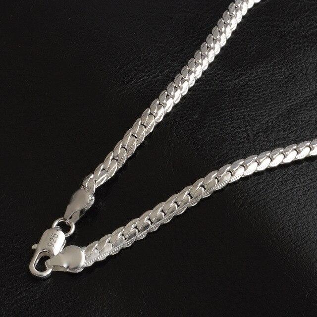 Классическая Серебристая Женская цепочка в стиле панк ширина