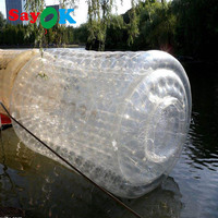 Бесплатная доставка 0,8 мм ПВХ надувной валик для плавания мяч, ходить на водяной шар, Аква прокатки мяч, роликовые колеса для взрослых или де