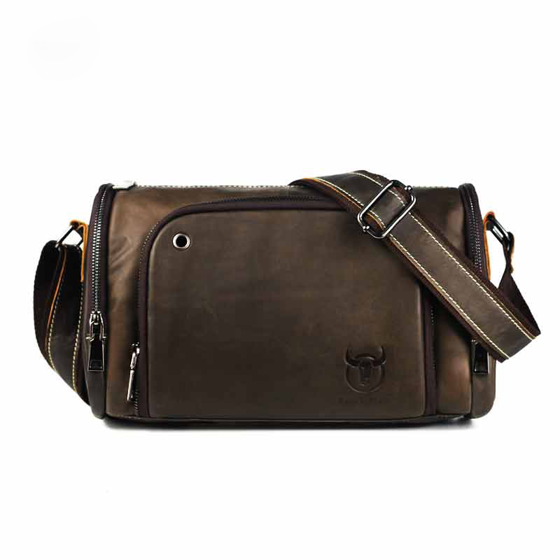 2017 Vintage Men 39 s Genuine Leather Messenger Bag Capacity Crossbody Bags Casual Cowhide Shoulder Bags Retro Bags Man Briefcases in Crossbody Bags from Luggage amp Bags