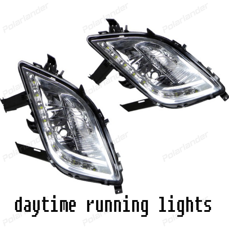hot sales Car accessory DRL LED Daytime Running Lights Waterproof fog lamp for B/uick E/xcelle XT 2010-2013 auto lamps