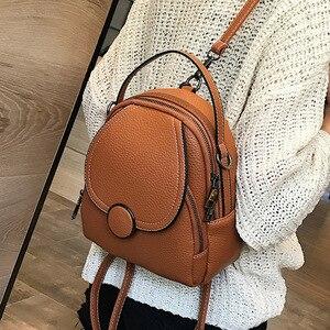 Image 1 - Mochila de couro feminina, nova mochila de couro feminina multifuncional com toque suave