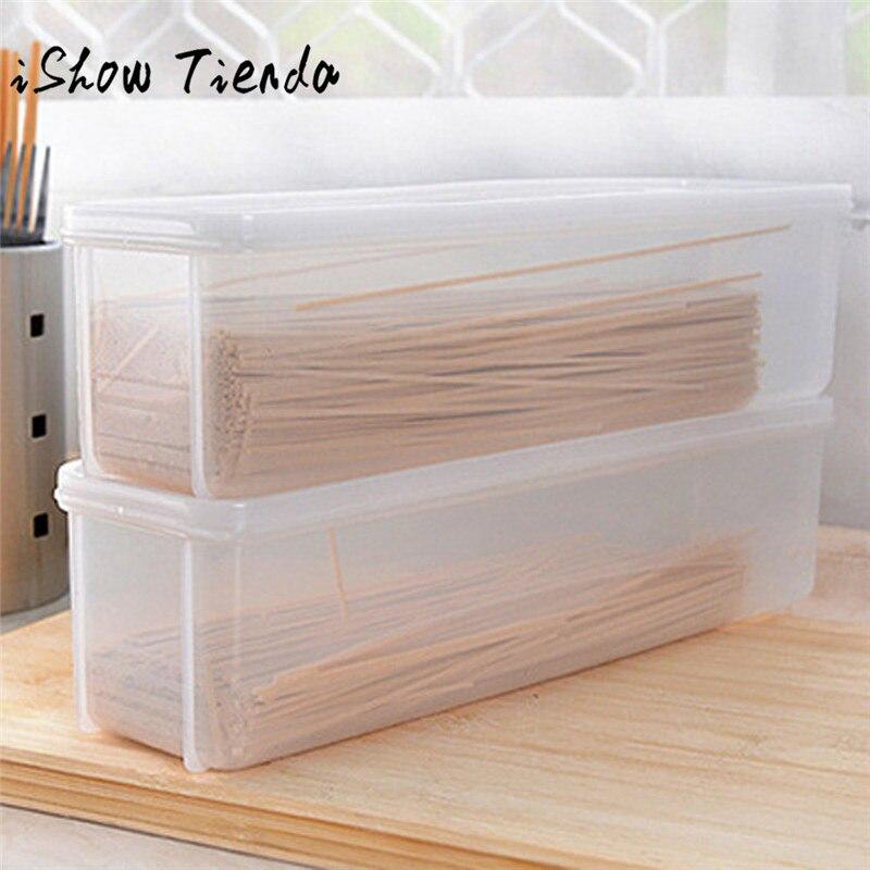 Один Слои холодильник Еда герметичный Лапша контейнер для хранения Box Новинка 2017 года Многофункциональный Еда Органайзеры для хранения спагетти