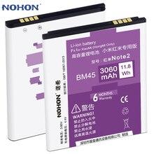3060 mAh Li-ion Batería NOHON Para Xiaomi Redmi HongMi Nota 2 BM45 Alta Capacidad de Baterías de Reemplazo Original Paquete Al Por Menor