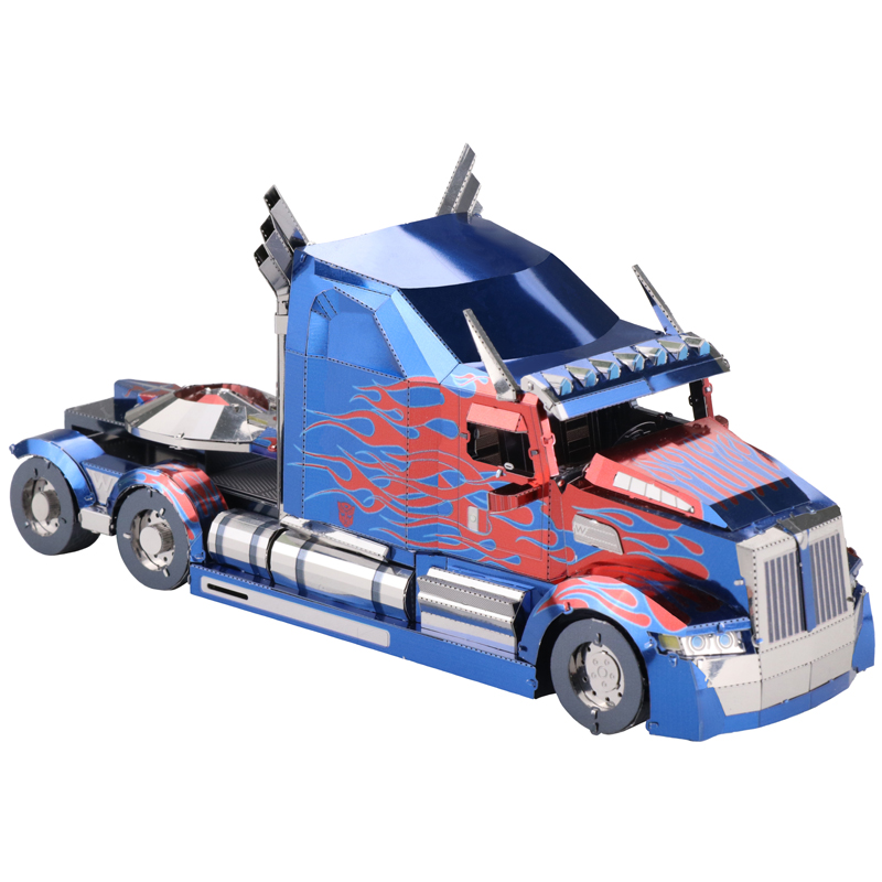 2018 news MU 3D Metal Puzzle TF Truck robot DIY Laser Cut puzzles Jigsaw Model For Adult Educational Toys Desktop decoration colorful god of war returns 3d metal puzzles model for adult kids manual jigsaw educational toys desktop display collection gift
