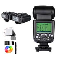 Godox V860II V860II-C GN60 E-TTL HSS 1/8000s Speedlite Flash w/ Li-ion Battery + X1T Flash Transmitter + Receiver For Nikon+Gift
