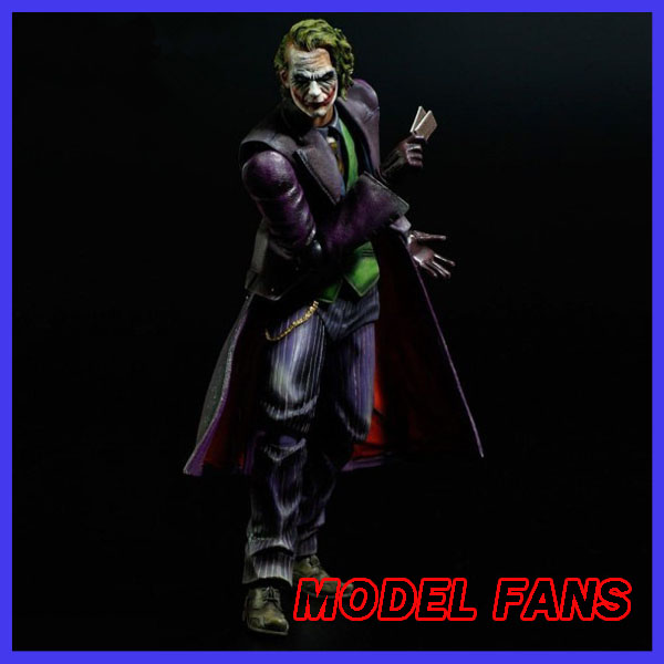 MODEL FANS Joker Action Figure Play Arts Kai Bat Man 250MM Anime Model Toys Bat-man Playarts Joker Figure Toy batman joker action figure play arts kai 260mm anime model toys batman playarts joker figure toy