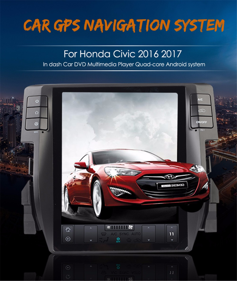 Honda Civic Indash Navigation 2017: Tesla Style Supper Android6.0 32GB+2 Car GPS Navigation